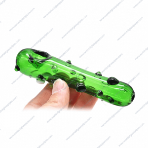 I don't do magic | 4.6 inches | Pickle Rick Glass Pipe hand