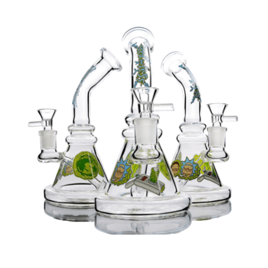 Rick & Morty Portal Gun Beaker Bong | 7.6 inches – 14.4mm | Themed Glass Bong5