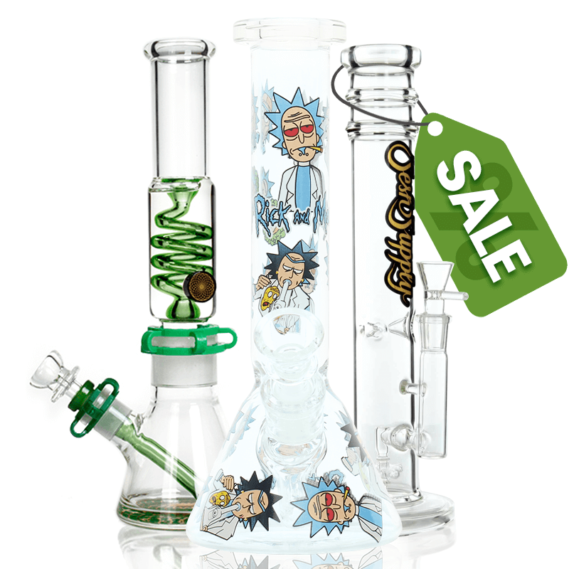 If you're looking for a branded bong or a bong with features with a high discount, then check out our sale. These bongs for sale aren't necessarily the cheapest bongs we offer, but they're usually some of the higher-end bongs that have a large discount applied to them. There's nothing wrong with these bongs – they're just overstocked, or we need to get them out of our warehouse to make room for the newest styles!