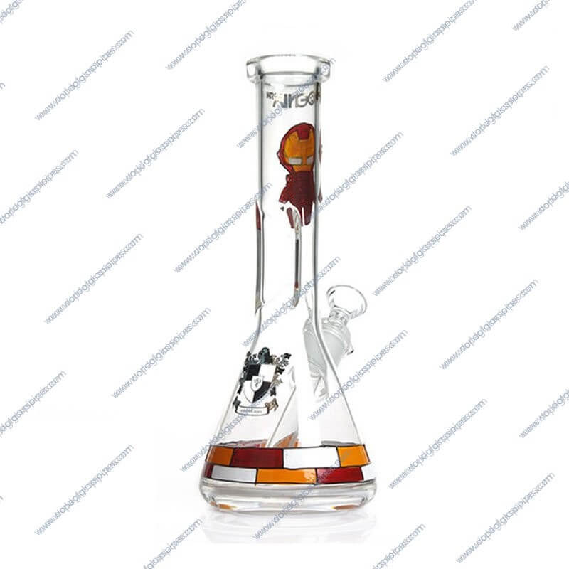 10 Inch Iron Man Themed Glass Piece 3