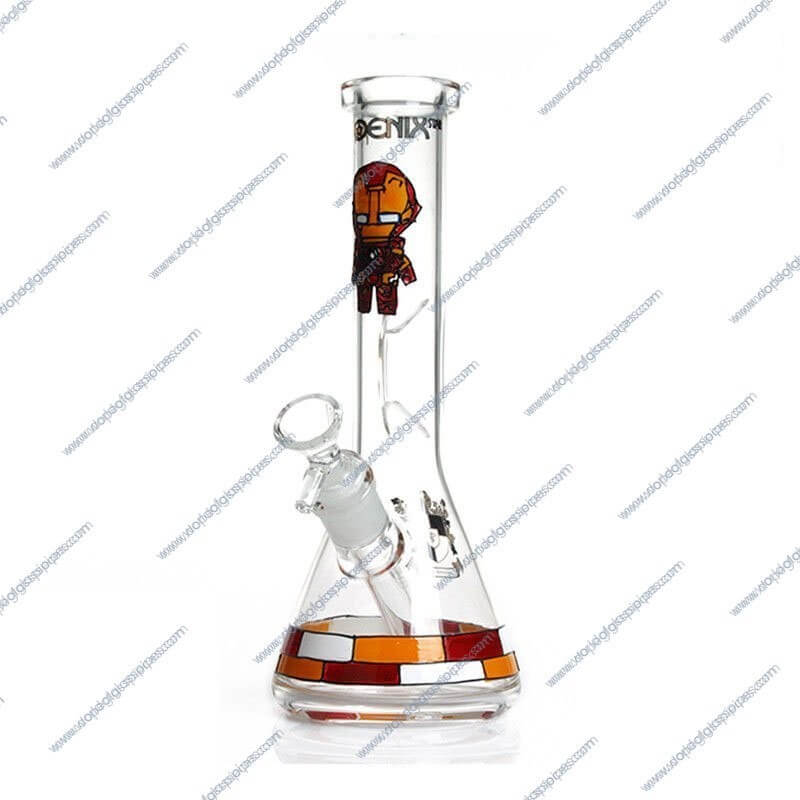 10 Inch Iron Man Themed Glass Piece