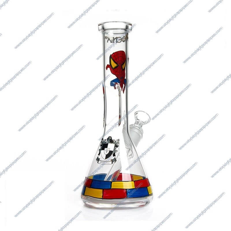 10 Inch Spiderman Themed Glass Piece 2