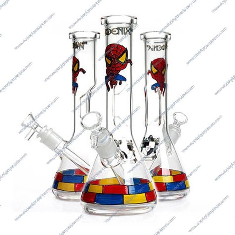 10 Inch Spiderman Themed Glass Piece 4