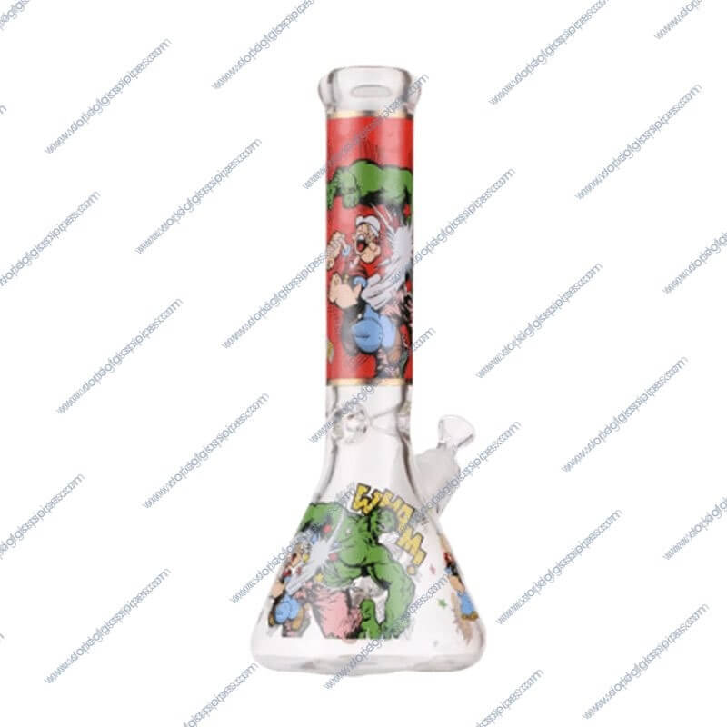 14 Inch Popeye Themed Ice Glass Piece