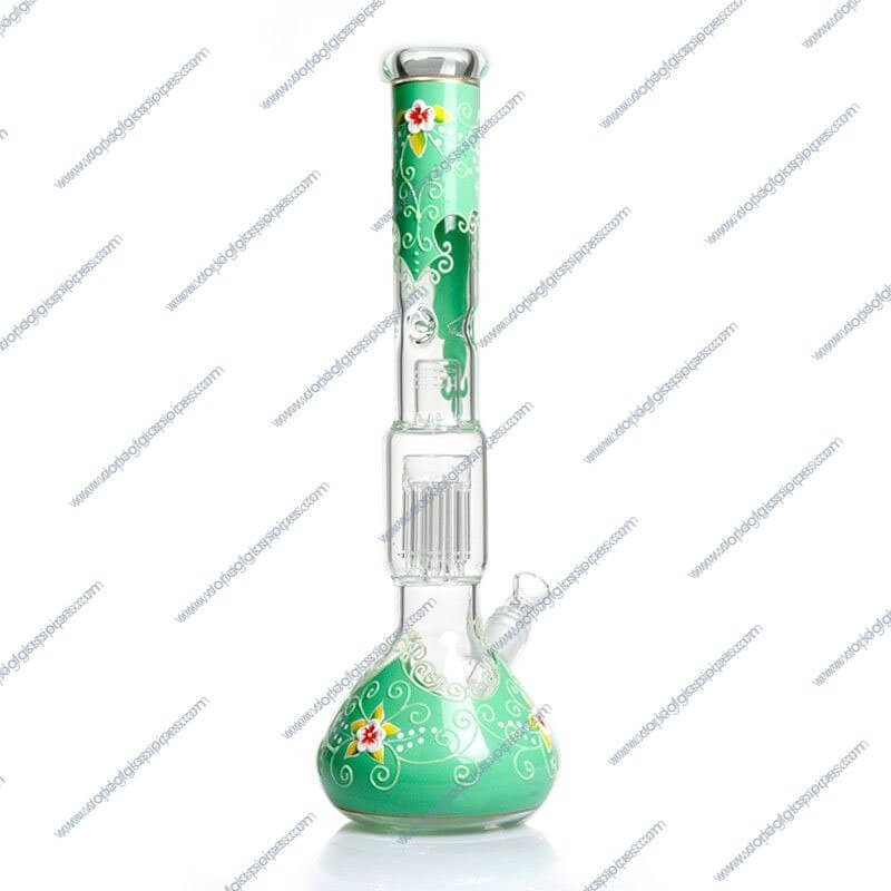 18 Inch Flower Colored Glass Piece3