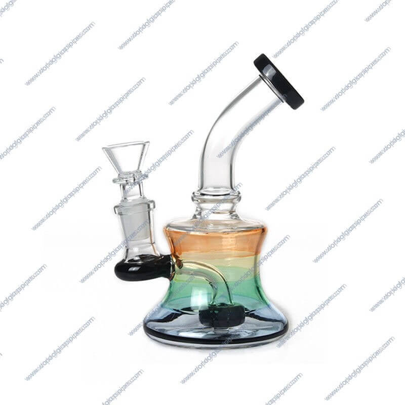6 Inch Black Showerhead Perc Glass Piece