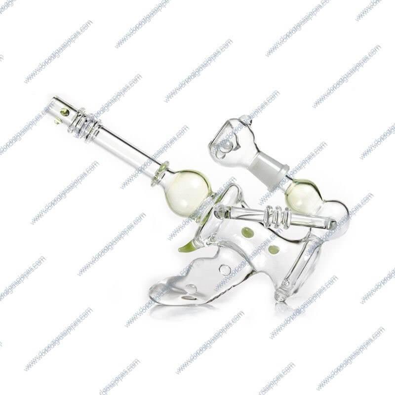 8.2 Inch Green Gun Themed Glass Piece