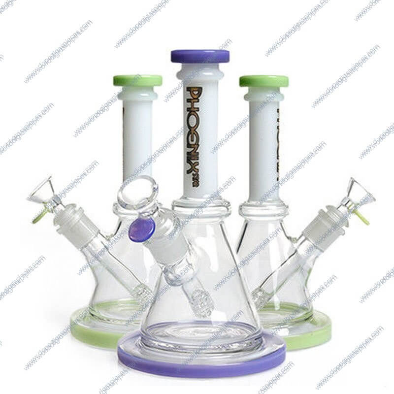 8.5 Inch Dual Colored Matrix Downstem Glass Pieces
