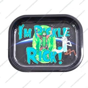 Pickle rick metal rolling tray