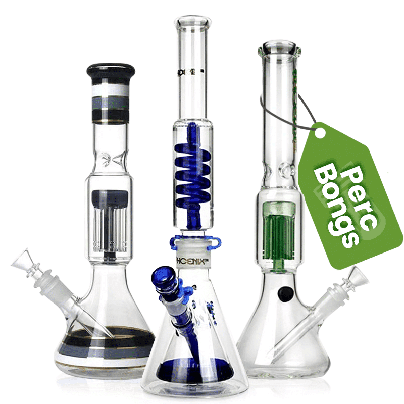 A percolator is a feature in the bong which adds an extra layer of filtration. There are many different types of percolator, and each filter the smoke to different degrees. They also each look very different, and many smokers choose them based on their looks alone.