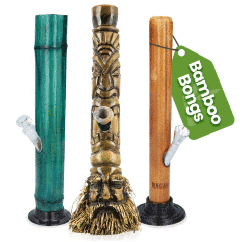 If you're an eco warrior or just love the more earthy aesthetic, our bamboo bongs are a perfect option. Bamboo is super friendly to the environment as it grows so quickly and easily, making it much more sustainable than wood. When coated properly, it can also make a perfect bong, as it's already a hollow tube by nature.