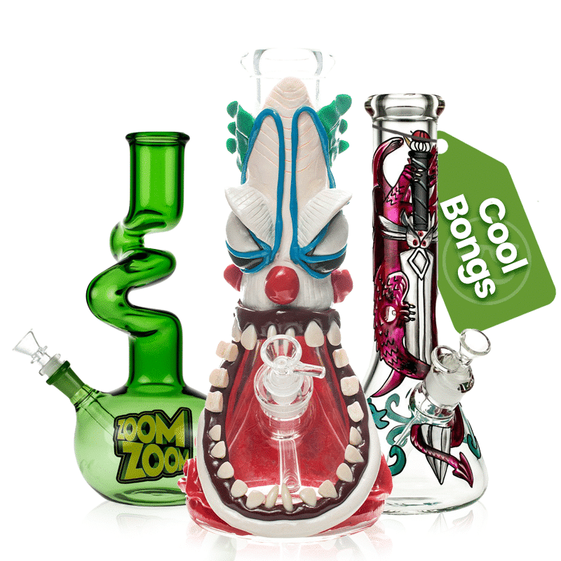 If you're into premium bongs or the most unique designs, here's where you'll find them. Our very best and coolest bongs feature designs that you won't find at any other online headshop in the US. This guarantees you not only the coolest bong, but the most individual one, too.