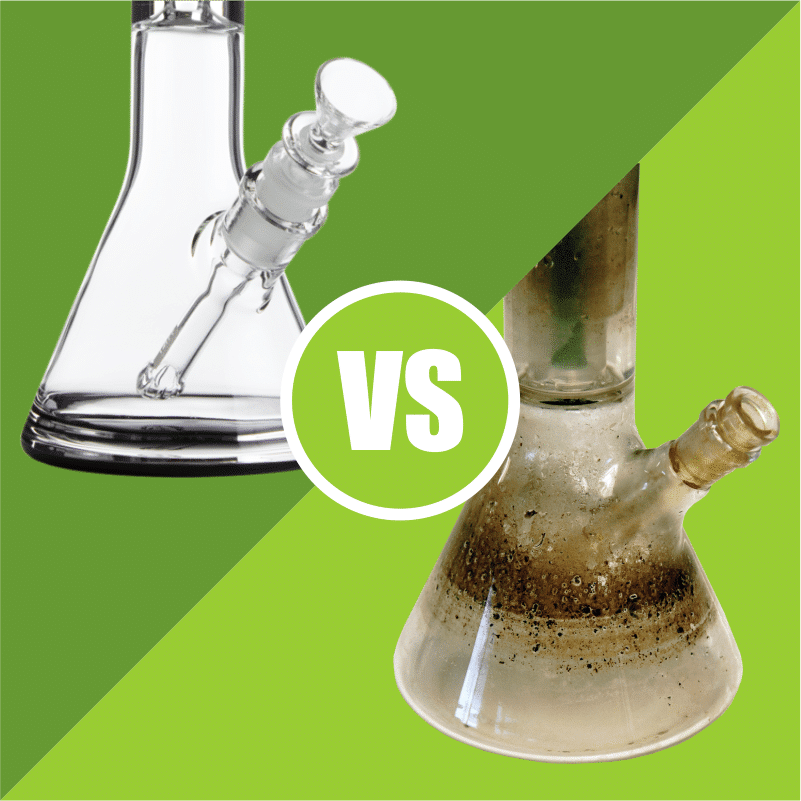 Bongs are easily the best way to smoke, but only when they're clean. Letting your bong collect residue not only looks gross, but can make your smoke worse. If you're not the best at keeping clean and tidy, opt for a bong that has less difficult components to clean, such as a straight tube bong with no ice carb.