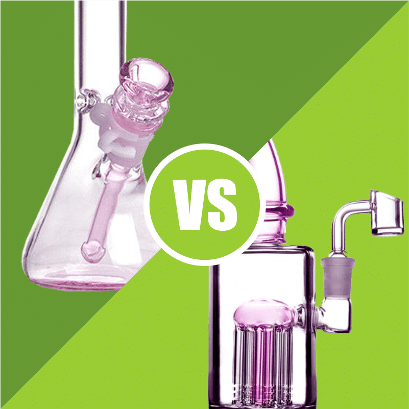 Pink Bongs vs Dab Rigs, what's the difference?